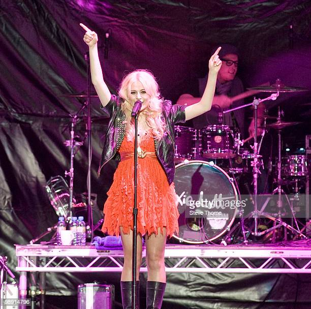 Pixie Lott performs on stage at LG Arena on May 7 2010 in Birmingham England