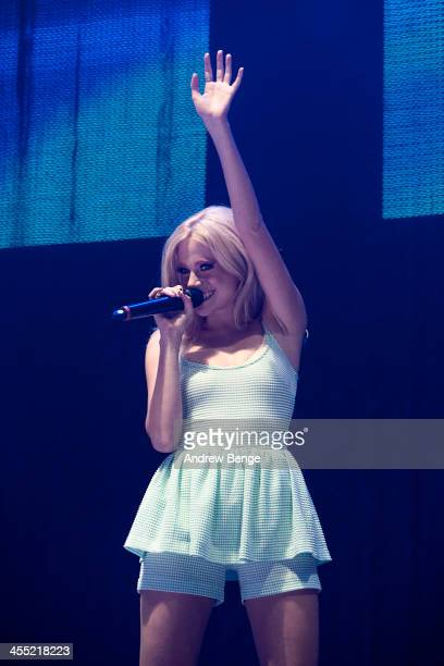 Pixie Lott performs on stage for Radio City Live 2013 at Echo Arena on December 11 2013 in Liverpool United Kingdom