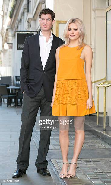 Pixie Lott poses with co star Matt Barber who will perform in the new stage adaptation of Truman Capote's Breakfast at Tiffany's on January 28 2016...