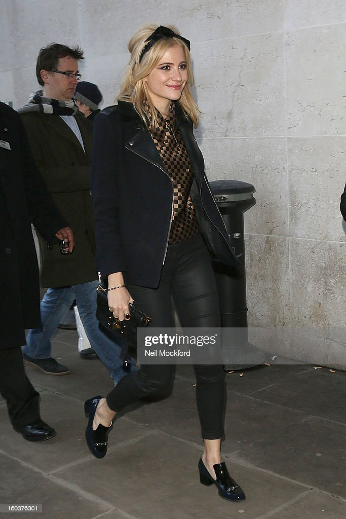 Pixie Lott seen at BBC Radio One on January 30, 2013 in London, England.
