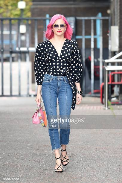 Pixie Lott seen at the ITV Studios on April 14 2017 in London England