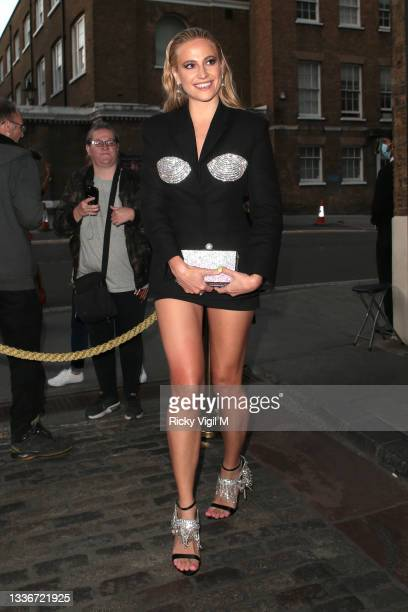 Pixie Lott seen attending the British LGBT Awards 2021 at The Brewery on August 27, 2021 in London, England.