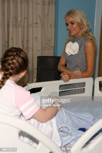 Pixie Lott shows her support for the Matalan #GetSpotted campaign by visiting the children of Alder Hey hospital at Alder Hey Children's Hospital on...