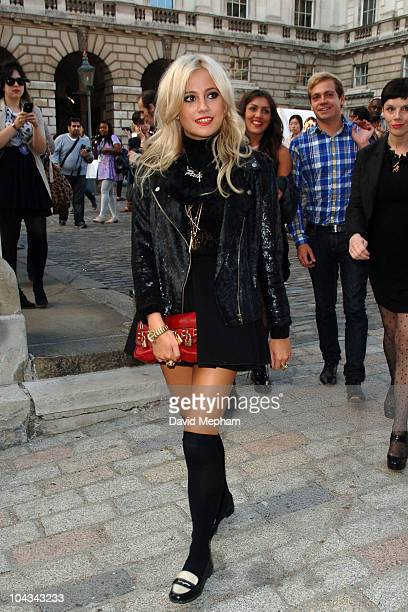 Pixie Lott sighted during London Fashion Week on September 21 2010 in London England