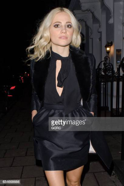 Pixie Lott sighting on February 10 2017 in London England