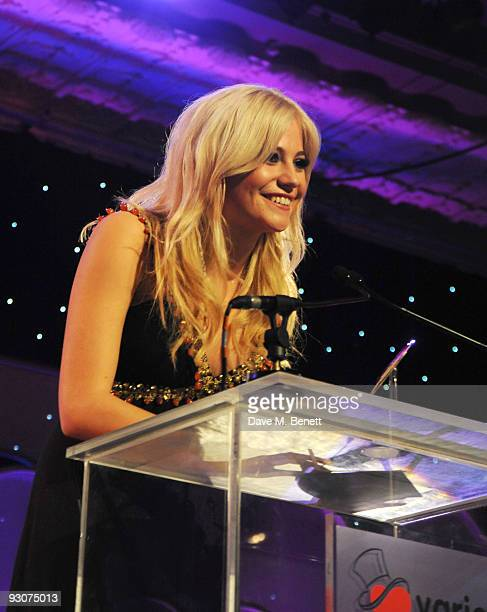 Pixie Lott with The Caron Keating Breakthrough Talent Award attends the Variety Club Showbiz Awards at the Grosvenor House on November 15 2009 in...