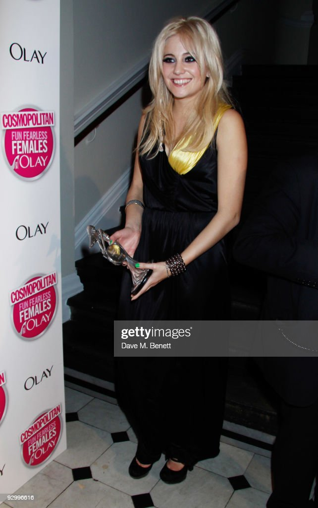 Pixie Lott with the Ultimate Newcomer Award attends the Cosmopolitan Ultimate Women Of The Year Awards, at the Banqueting House on November 11, 2009 in London, England.