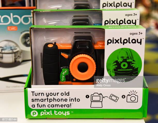 Pixlplay from Pixl Toys a childproof case to put old cellphones into to and then use as a camera at Timbuk Toys in University Hills November 09 2017...
