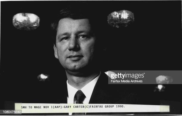 Pixs of Gary Carter Managing Director of APA holdings March 15 1989