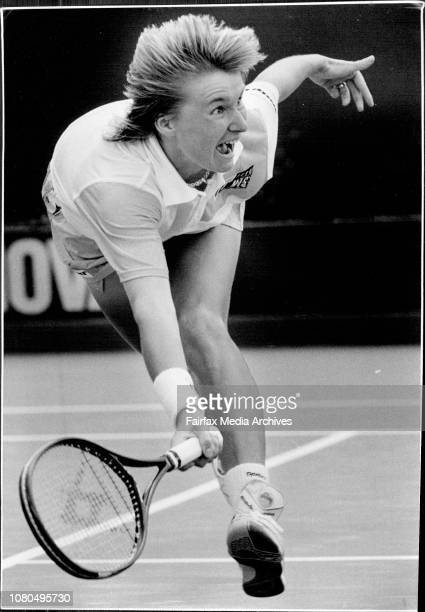 Pixs taken at the NSW Open Tennis at White CityJ Novotna lunges at a ball during her game against PaulusJana Novotna at White City yesterday She'll...