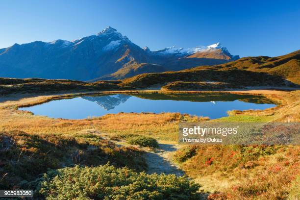Piz Beverin and Bergsee Grisons Switzerland