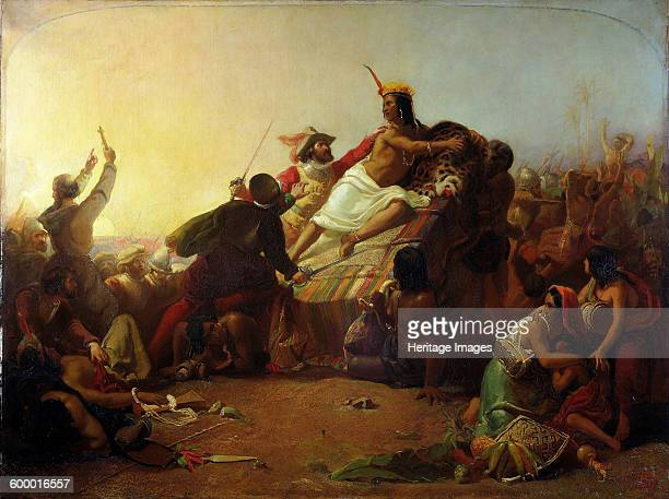 Pizarro Seizing the Inca of Peru 1846 Found in the collection of Victoria and Albert Museum Artist Millais John Everett