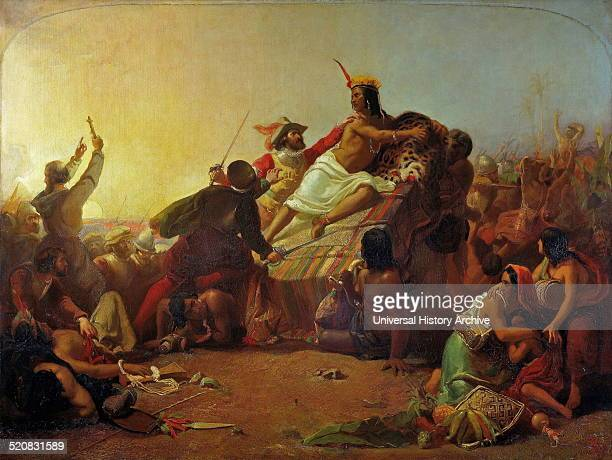 'Pizarro Seizing the Inca of Peru' Millais early masterpieces He was just 16 when it was completed in 1846 The painting features Atahualpa the last...