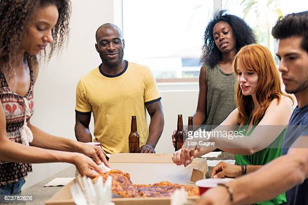 Pizza and beers party