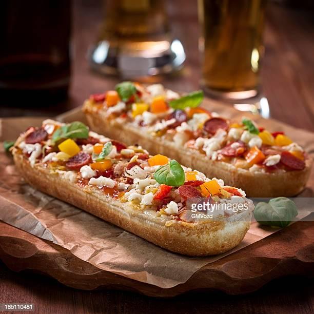 Pizza Baguette Appetithäppchen