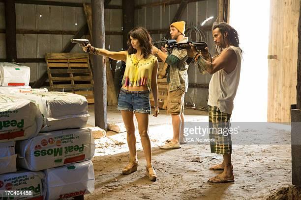 GRACELAND 'Pizza Box' Episode 103 Pictured Mia Kirshner as Ashika Pearl