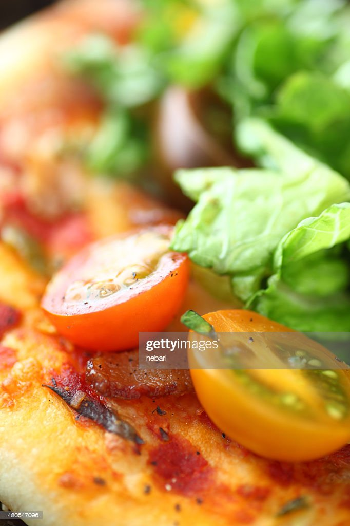 BLT pizza closeup : Stock Photo