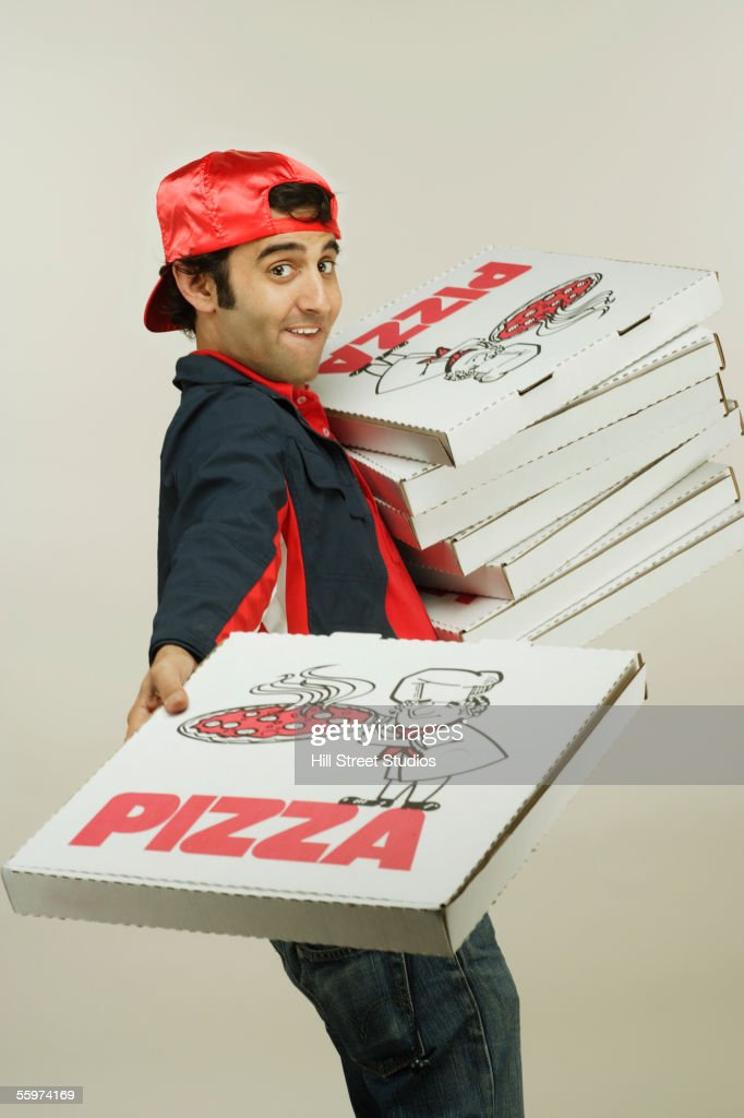 Pizza delivery man : Stock Photo