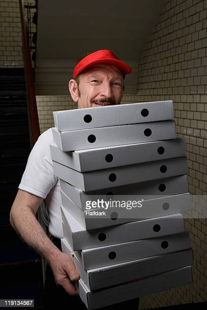 A pizza delivery man, portrait