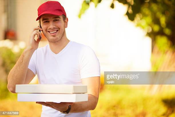 pizza delivery person. - one young man only stock pictures, royalty-free photos & images