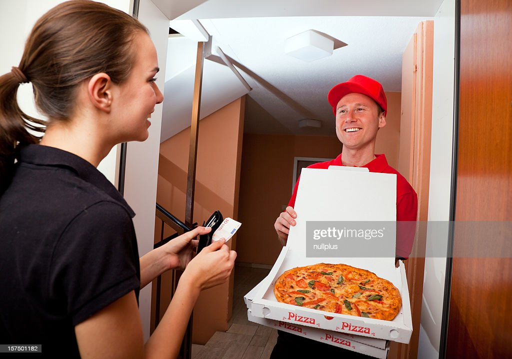 pizza delivery : Stock Photo