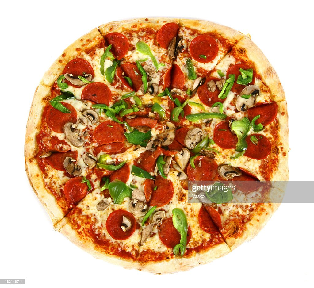 Pizza from the top - Deluxe : Stock Photo