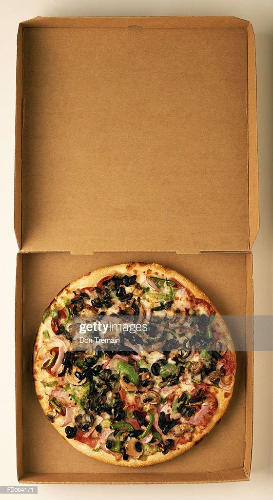 Pizza in Box : Stock Photo