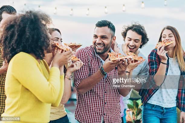 Pizza is more delicious with friends