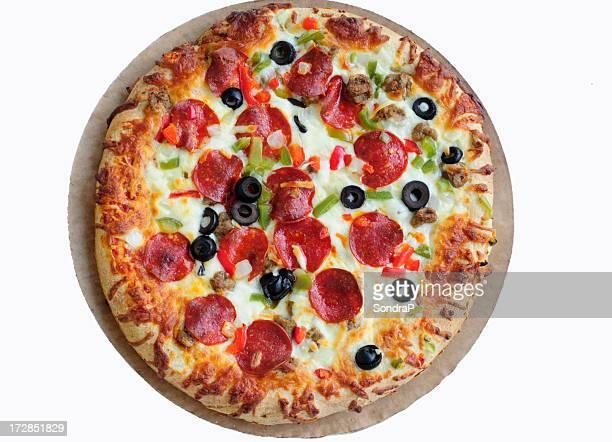 Pizza On Cardboard