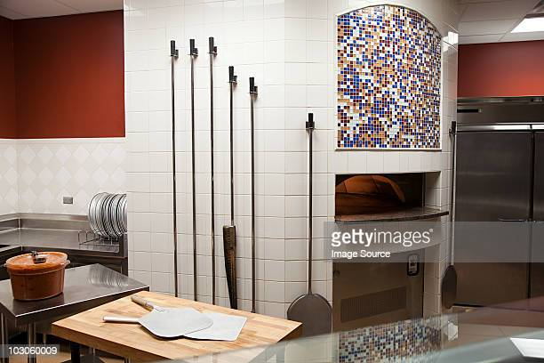 pizza oven, commercial kitchen - pizza oven stock photos and pictures