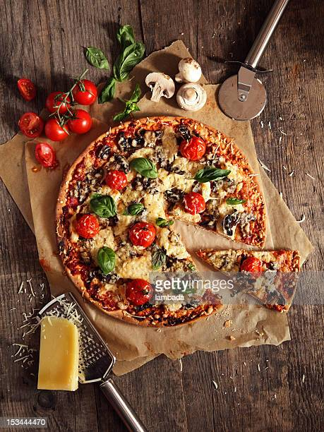 pizza - italian food stock pictures, royalty-free photos & images