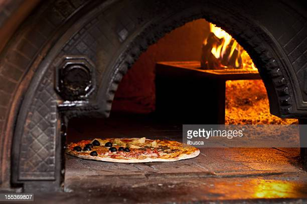 Pizza quattro stagioni (Four Seasons) in wood oven