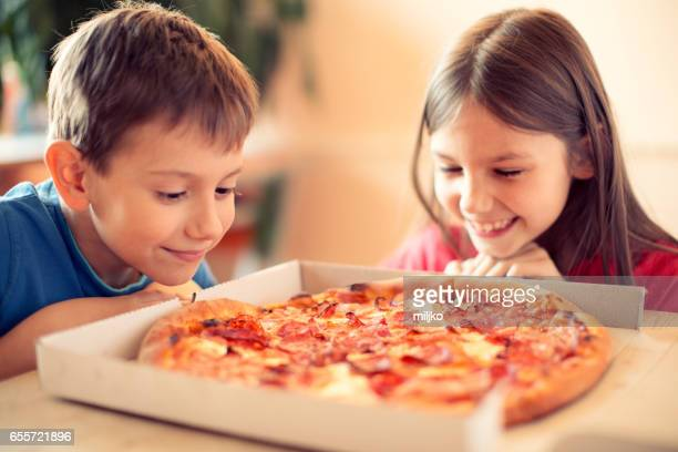pizza time! - pizza box stock photos and pictures