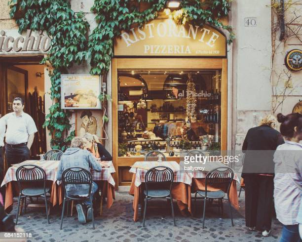 pizzeria, rome - italy - vintage restaurant stock pictures, royalty-free photos & images