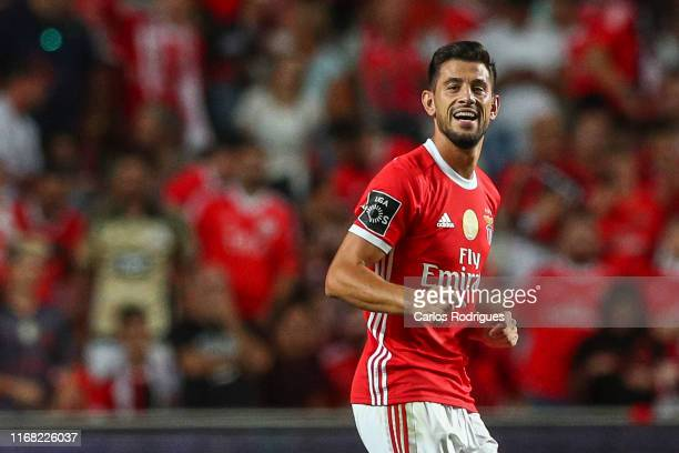 Pizzi of SL Benfica celebrates scoring SL Benfica second goal during the Liga NOS round five match between SL Benfica and Gil Vicente FC at Estadio...