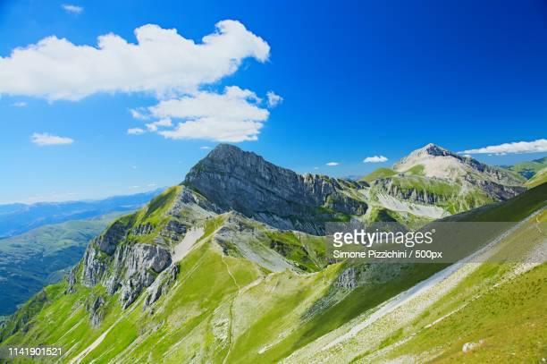 pizzo cefalonem - parco nazionale del gran sasso e monti della laga foto e immagini stock