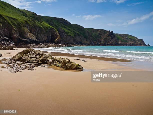 plémont bay, new jersey - bras de mer caractéristiques côtières photos et images de collection