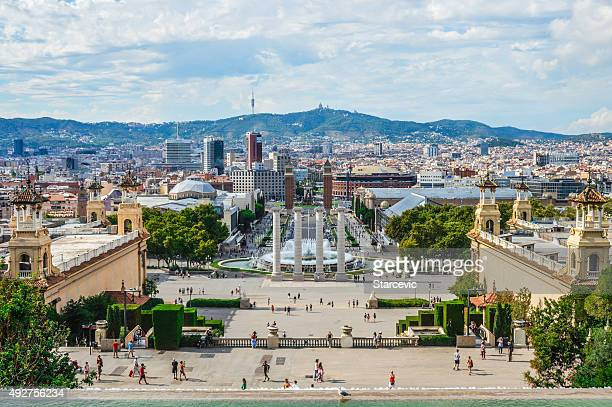 Plaça d'Espanya in Barcelona Spain