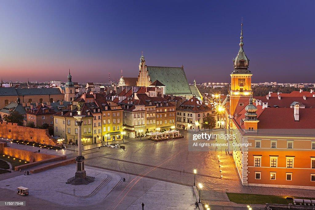 Plac Zamkowy (Warsaw. Poland) : Stock Photo