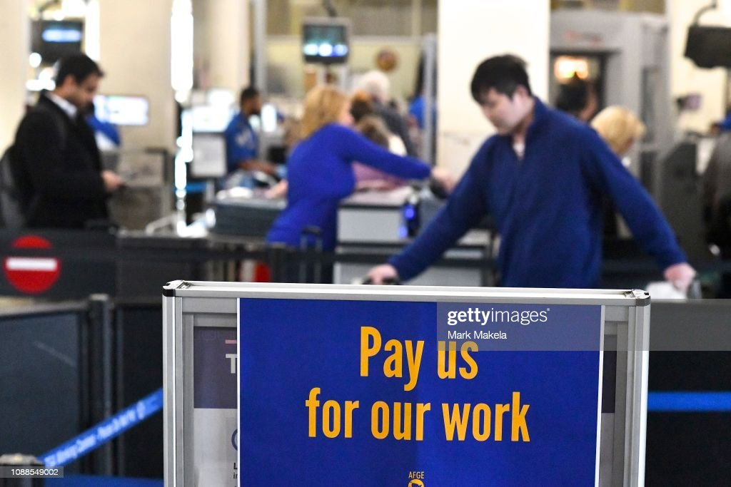 Philadelphia Airport TSA And Airport Workers Rally Against Gov't Shutdown Amid Large Air Traffic Delay Across Northeast : News Photo