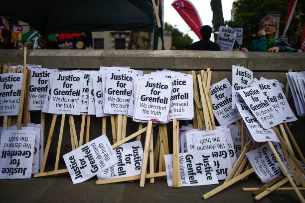 GBR: Justice 4 Grenfell March On Downing Street