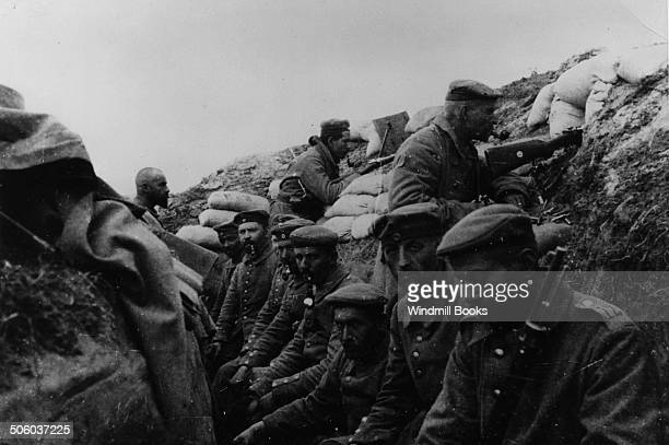 Place and time of picture unknown probably on the French Battle Front in the trenches 1914