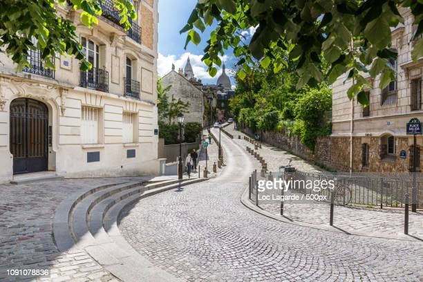 place dalida montmartre paris - lagarde stock photos and pictures
