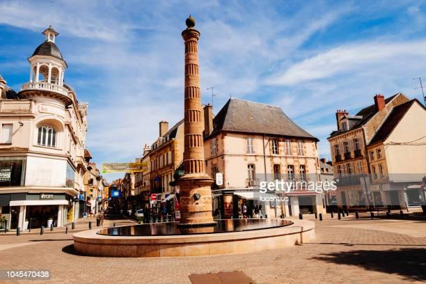 place d'allier, moulins, auvergne, france - allier stock photos and pictures