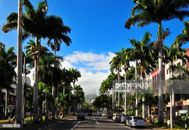 place d'armes, port louis, mauritius - port louis stock photos and pictures