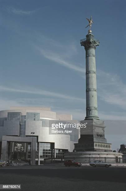 Place de la Bastille and the July Column, Paris, France, June 1991.