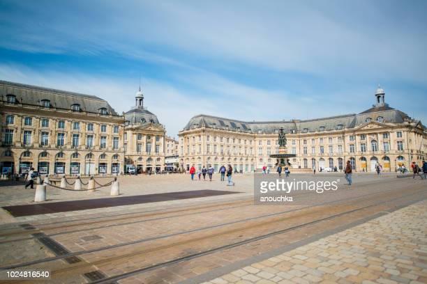 place de la bourse, bordeaux, france - bordeaux stock pictures, royalty-free photos & images