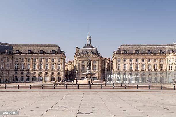 Place de la Bourse in the city of Bordeaux.