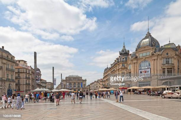 place de la comédie in montpellier - herault stock pictures, royalty-free photos & images