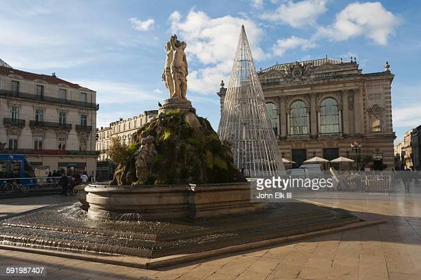 Place de la Comedie, Fountain of the Three Graces